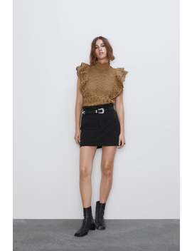 Textured Ruffled Top View All Knitwear Woman by Zara