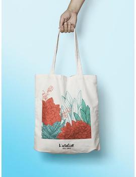 X429 Y Tote Bag Flowers, Tote Bag Mama Bag Cotton Bag, Purse, Diaper Bag, Tote Bag, Gift For Bridsmaid Wedding Bag by Etsy