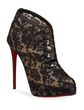 Top Top Red Sole Booties by Christian Louboutin