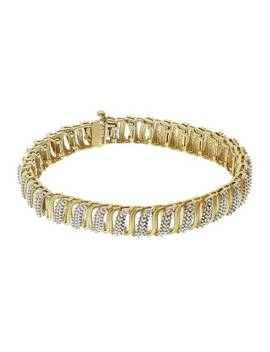 Revere 9ct Gold Plated Silver 0.10ct Tw Diamond Bracelet224/2543 by Argos