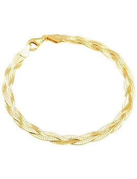 Revere 9ct Gold Plated Sterling Silver Braided Herringbone932/6589 by Argos