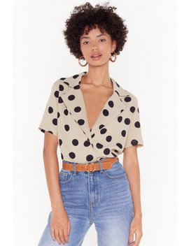 One More Button Hurt Polka Dot Blouse by Nasty Gal
