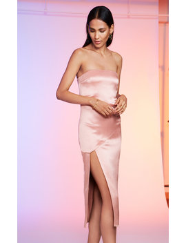 Strapless Silk Satin Dress by Cushnie