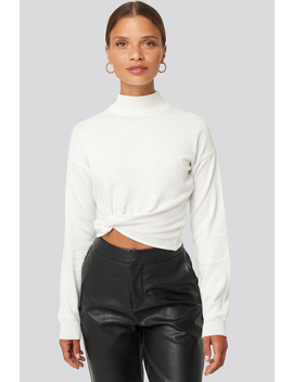 Side Twisted Sweater Blanc by Na Kd Trend