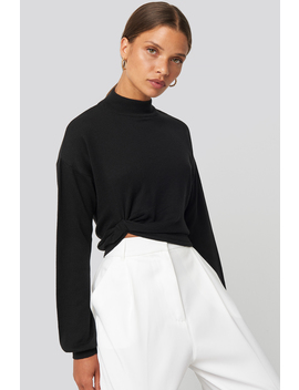 Side Twisted Sweater Noir by Na Kd Trend