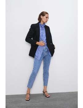 Zw Premium Cigarette Arizona Blue Jeans Mid Waist Jeans Denim Woman Cornershops by Zara