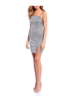 Metallic X Back Slip Dress by Sequin Hearts
