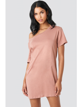 One Shoulder T Shirt Dress Rosa by Na Kd