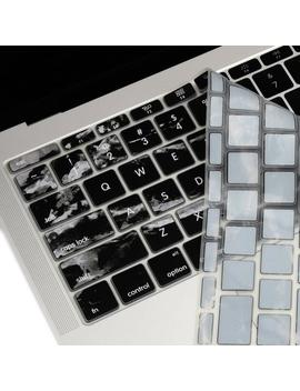 Ultra Thin Silicone Keyboard Cover For Mac Book Pro 13 Inch A1708 (No Touch Bar) Release 2016 / Macbook 12 Inch Retina A1534   Black Marble by Etsy