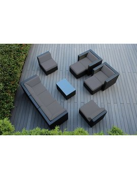 Kiara 10 Piece Rattan Sectional Seating Group With Cushions by Allmodern