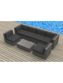 Kiser 7 Piece Rattan Sofa Seating Group With Cushions by Allmodern