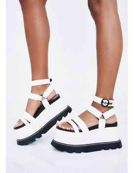 Pure Keep Smiling Bb Platform Sandals by Lamoda