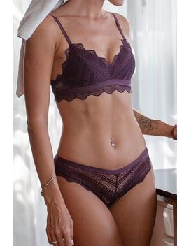 Purple Lace Scalloped Lingerie by Cupshe