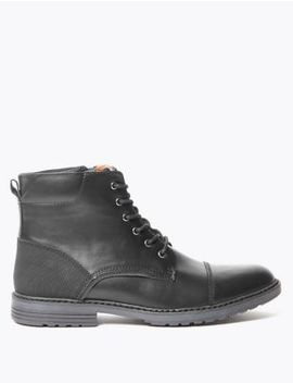 Lace Up Casual Boots by Marks & Spencer