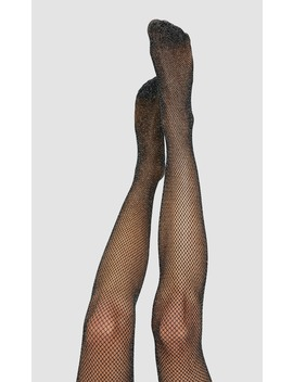 Διχτυωτό-μεταλλιζέ-καλσόν by stradivarius