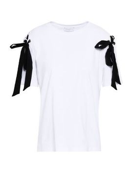 Bow Embellished Cotton Jersey T Shirt by Sandro