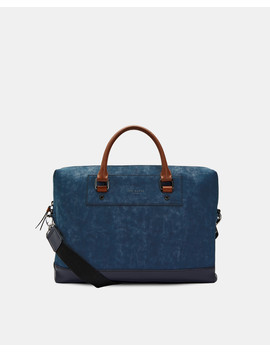 Nubuck Effect Document Bag by Ted Baker