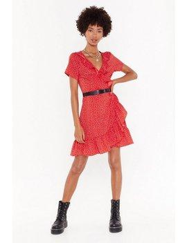It's Dot Me Wrap Mini Dress by Nasty Gal