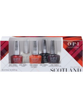 Scotland Good Girls Gone Plaid Infinite Shine 5pc Mini Pack by Opi
