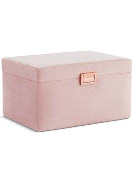 Blush Pink Velvet Jewellery Box by Beautify