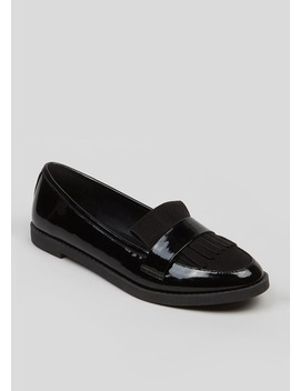Patent Fringe Loafers by Matalan