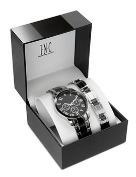 I.N.C. Men's Two Tone Bracelet Watch 42mm Gift Set, Created For Macy's by General
