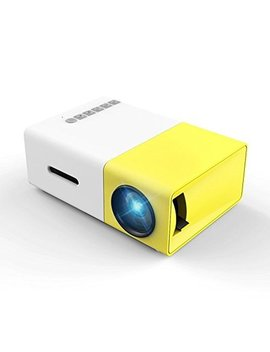 Mini Projector, Meer Yg300 Portable Pico Full Color Led Lcd Video Projector For Children Present, Video Tv Movie, Party Game, Outdoor Entertainment With Hdmi Usb Av Interfaces And Remote Control by Meer