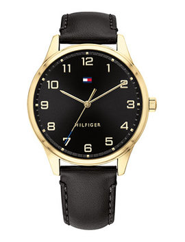 Men's Black Leather Strap Watch 44mm by General