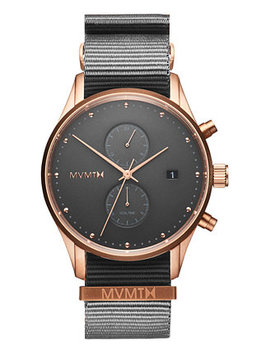 Men's Voyager Graphite Nylon Strap Watch 42mm by General