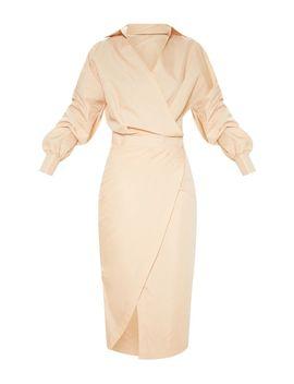 Fawn Midi Shirt Dress by Prettylittlething