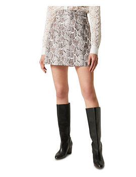 Elias Faux Leather Printed Mini Skirt by General