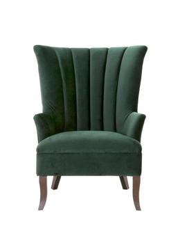 Carlotta Emerald Velvet Club Chair by Home Decorators Collection