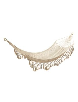 Better Homes & Gardens Harlow Beige Tassel Rope Hammock by Better Homes & Gardens