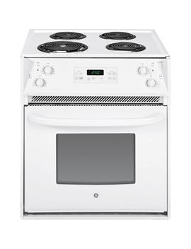 27 In. 3.0 Cu. Ft. Drop In Electric Range With Self Cleaning Oven In White by Ge