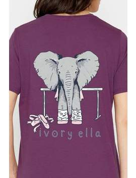 Ella Fit Royal Purple Dance Tee by Ivory Ella