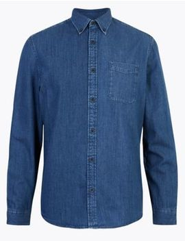 Denim Shirt by Marks & Spencer