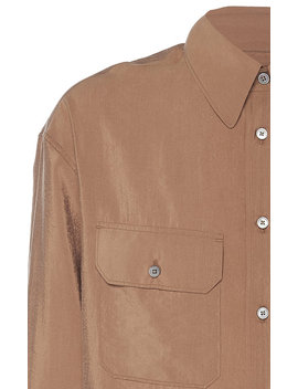 Silk Blend Military Shirt by Lemaire