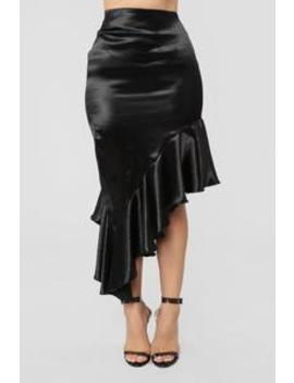 Versailles Flounce Skirt   Black by Fashion Nova