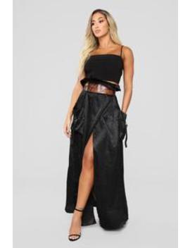Karlie Cargo Skirt   Black by Fashion Nova
