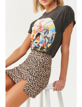 High Rise Leopard Print Mini Skirt by Forever 21