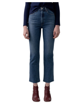 Pinch Waist High Rise Kick Flare Jeans by Agolde