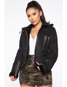 Dark City Aviator Jacket   Black by Fashion Nova