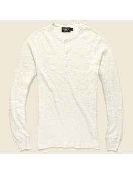 Waffle Henley   Paper White by Rrl