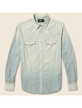 Slim Chambray Buffalo Western Shirt   Light Wash by Rrl