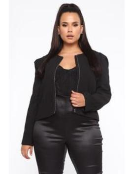 Making Boss Moves Blazer   Black by Fashion Nova