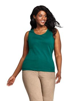 Women's Plus Size Cotton Tank Top by Lands' End