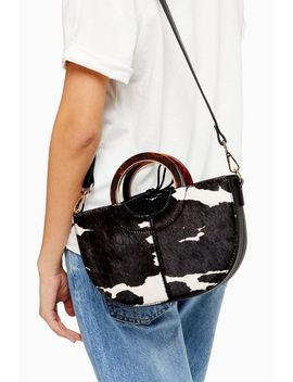 Shelby Cow Print Grab Bag by Topshop