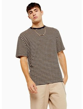 Brown And Black Textured Stripe T Shirt by Topman