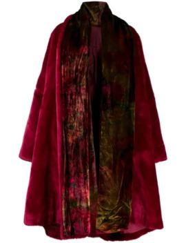 1990's Velvet Effect Tie Dye Coat by Dolce & Gabbana Pre Owned