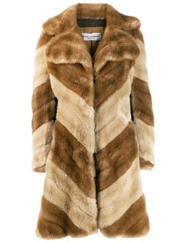 '1990s Faux Fur Coat by Dolce & Gabbana Pre Owned